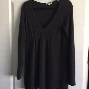 Vince Cashmere Gray Tunic Sweater
